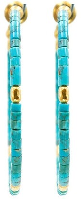 Gurhan 24kt gold Jet Set hoop earrings