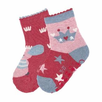 Sterntaler Baby Girls' Abs-sockchen Dp Maus + Krone Calf Socks
