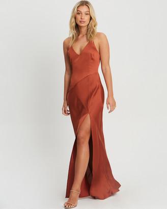 CHANCERY - Women's Orange Bridesmaid Dresses - Adele Bias Maxi - Size One Size, 14 at The Iconic
