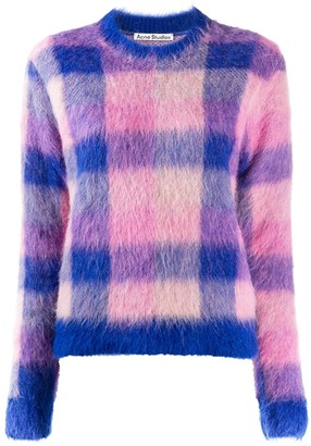 Acne Studios Check Print Knitted Jumper