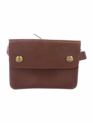 Hermes Courchevel Pochette Green Waist Bag Brown