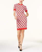 Love Moschino Heart-Print Sweater Dress