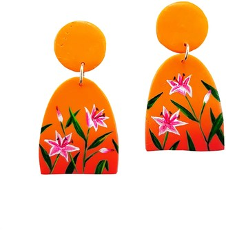 Emily Laura Designs Sunset Lily Clip On Arch Earrings