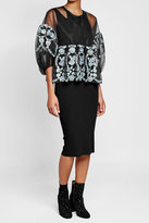 Anna Sui Sheer Blouse with Embroidery