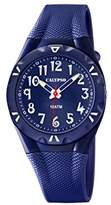 Calypso Unisex Quartz Watch with Blue Dial Analogue Display and Blue Plastic Strap K6064/3