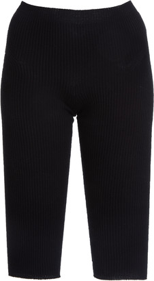 Jacquemus Arancia Ribbed-Knit Knee-Length Shorts
