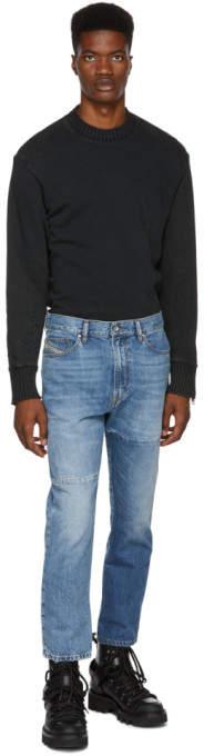 Diesel Blue D-Wallis Patchwork Jeans