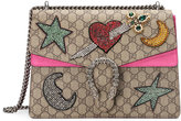Gucci Dionysus embroidered shoulder bag - women - Suede/Canvas/metal - One Size