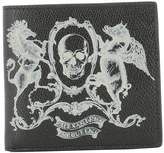 Alexander McQueen Black Leather Wallet