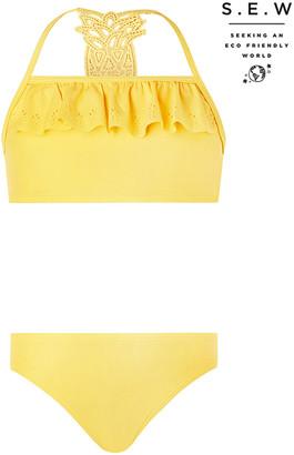 Under Armour Pia Pineapple Bikini Set with Recycled Fabrics Yellow
