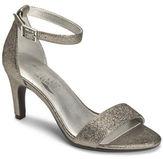 Aerosoles Laminate Metallic Ankle Strap Sandals