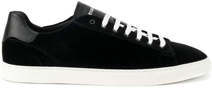 DSQUARED2 velvet lace-up sneakers