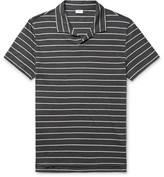 Onia Shaun Slim-Fit Striped Knitted Slub Linen-Blend Polo Shirt