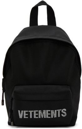 Vetements Black Strass Backpack