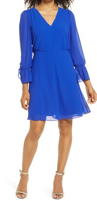 Vince Camuto Long Sleeve Minidress