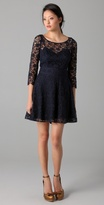 3/4 Sleeve Guipure Lace Dress