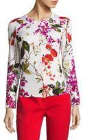 Escada Seflan Floral-Print Wool Cardigan