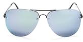 Quay Muse Mirrored Aviator Sunglasses, 62mm
