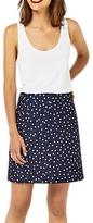 Warehouse Crinkle Spot Skirt, Blue