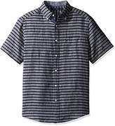 Nautica Men's Stripe Classic Fit Casual Shirt,S