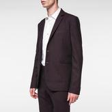 Paul Smith Men's Slim-Fit Burgundy Check Wool-Blend Blazer