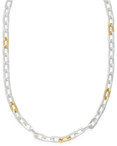 Gurhan Silver & Gold Rectangle Chain Necklace