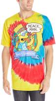 Liquid Blue Men's Simpsons Peace Man T-Shirt, Multi