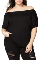 Rachel Roy Plus Size Women's Off The Shoulder Tee
