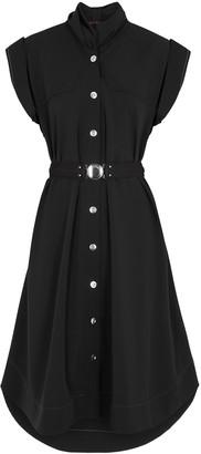 High Untold Black Stretch-twill Shirt Dress