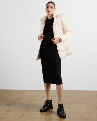 Ted Baker MALIIVA Fur hood puffa coat