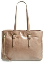 Hobo Cabot Calfskin Leather Tote - Grey