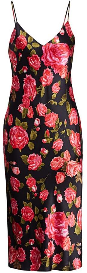 L'Agence Jodie Floral Silk Slip Dress