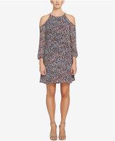 1 STATE 1.STATE Cold-Shoulder Shift Dress