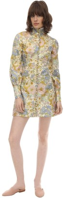 Zimmermann Buttoned Lurex Jacquard Mini Dress