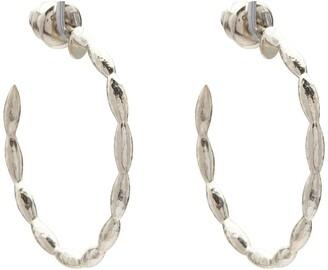 Gurhan Sterling Silver Wheat 30mm Hoop Earrings