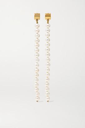 MEADOWLARK Gold-plated Pearl Earrings - one size