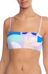 Bikini Lab The Modern Lace-Up Back Bandeau Bikini Top
