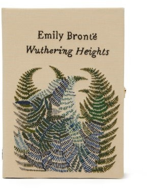 Olympia Le-Tan Wuthering Heights Embroidered Book Clutch - Ivory Multi