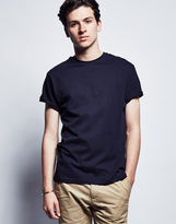 The Idle Man T Shirt with Crew Neck Navy