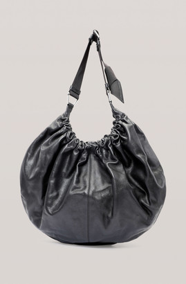 Ganni Draped Leather XXL Hobo Bag