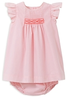 Jacadi Girls' Smocked Poplin Dress and Bloomer Set - Baby