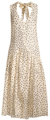 Stella McCartney Polka Dot-Print Silk-Blend Maxi Dress