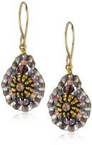 Miguel Ases Purple 14k Gold Filled Mini Tear Drop Earrings
