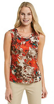 Kasper Ruched Neck Printed Cami
