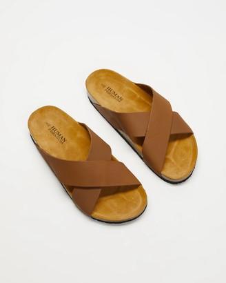 Human Premium - Women's Brown Flat Sandals - Pandora - Size 37 at The Iconic