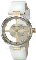 Kenneth Cole New York Women's 10022539 Transparent Analog Display Japanese Quartz White Watch