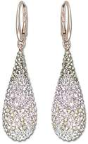 Swarovski Abstract Pierced Earrings, Multi-colored, Rose Gold Plating