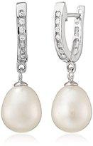 Bella Pearl Hinged Posted Pearl Drop Earrings