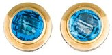 David Yurman Two-Tone Blue Topaz Earrings