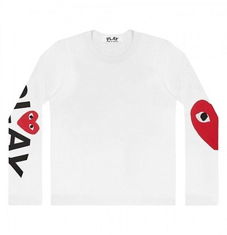 Comme des Garcons Play Logo Long-Sleeve T-Shirt